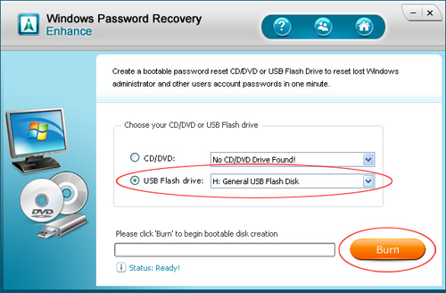 Windows Vista password reset USB