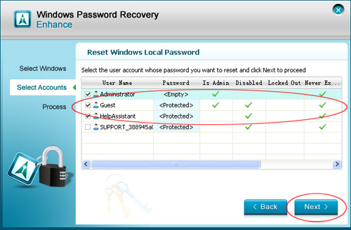 Windows Vista password reset disk